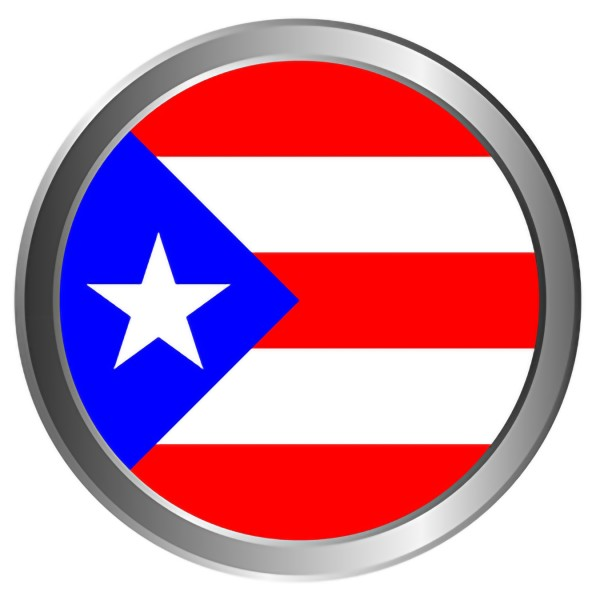 C002 Puerto Rican Flag Button