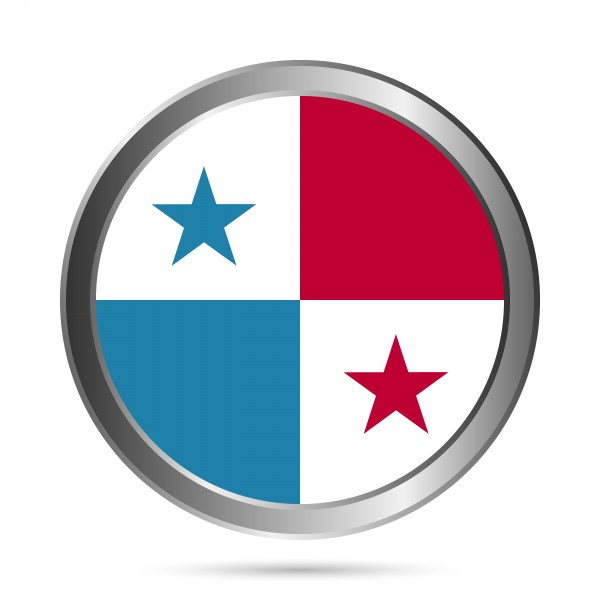 C017 Panama Flag Button
