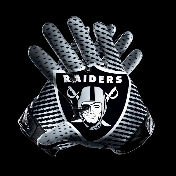 C216 Oakland Raiders Gloves