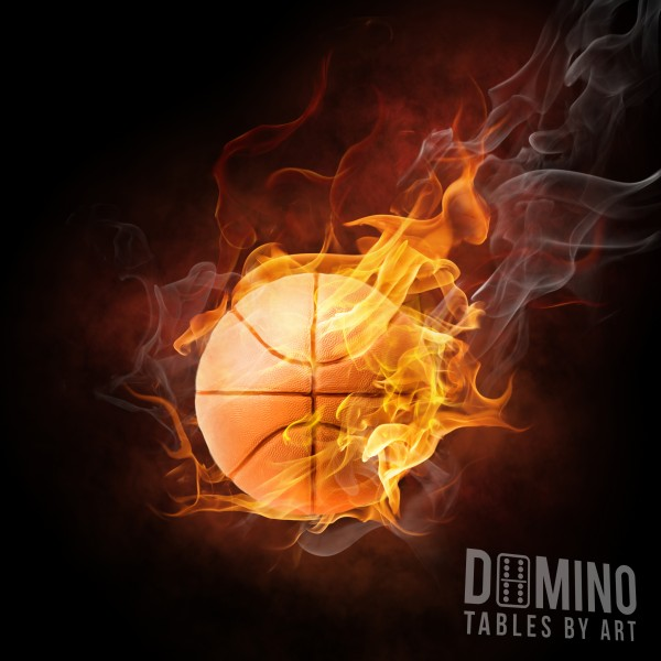 T030 Flaming Basketball