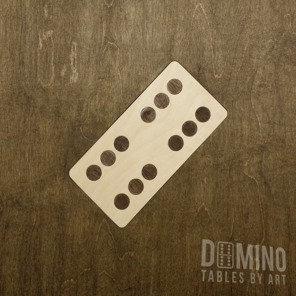 T032 Dark Walnut Inlay Domino