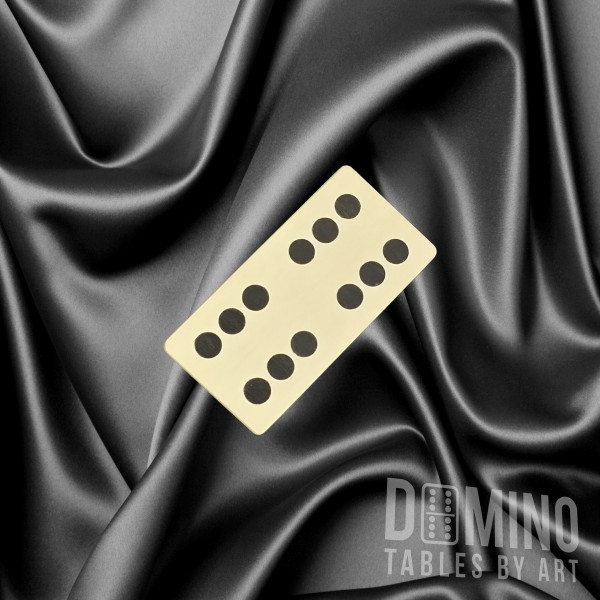 T062 Wavy Black Inlay Domino