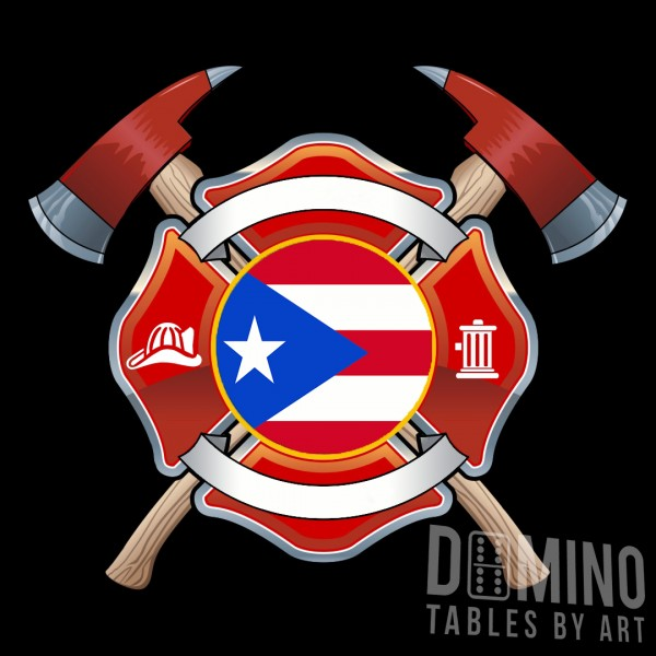 T070 Firefighter Shield and PR Flag
