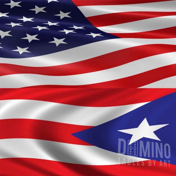 Dominoes Jumbo With Puerto Rico Flag Design—Conga