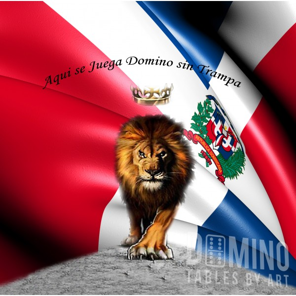 T145 Dominican Flag with Lion