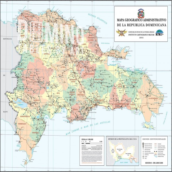 T203 Dominican Map