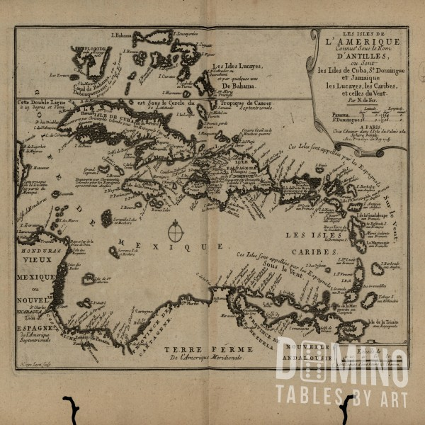 T205 Caribbean Islands Map