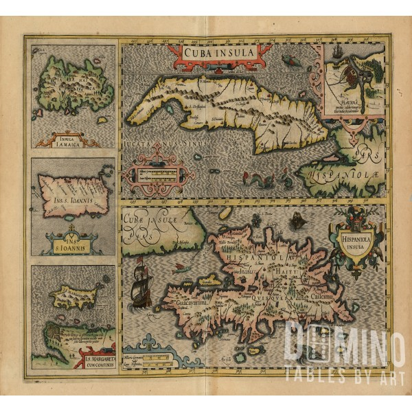 T208 Ancient Cuban Map
