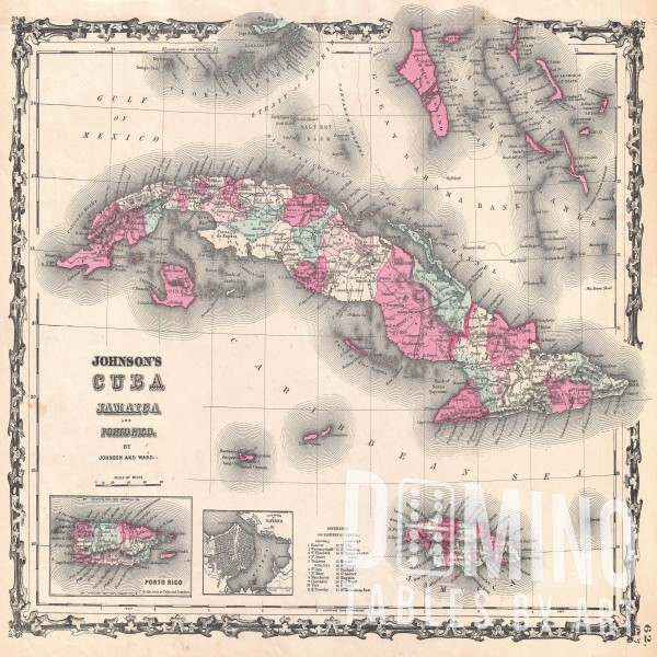 T209 Cuban Map 1862