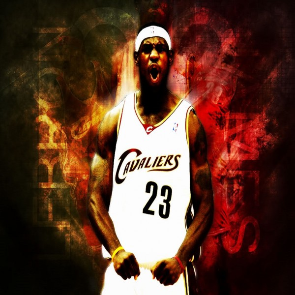 TS041 Lebron James in Flames