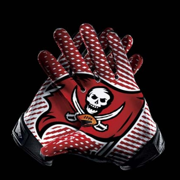 C281 Tampa Bay Buccaneers Gloves