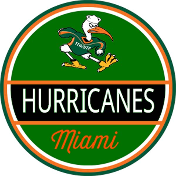 C290 Miami Hurricanes Cupholder