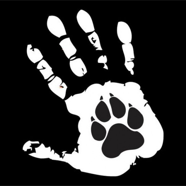 C293 Paw Print in Hand Print